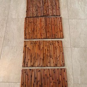Bamboo place mats 4 for $10.00